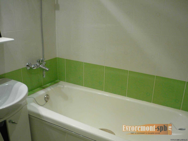 Косметический ремонт стен в ванной